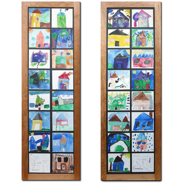 school art panes of home for each child