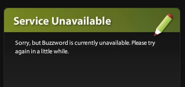 Acrobat.com beta Service Unavailable