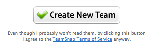 TeamSnap Term of Service Agreement