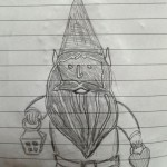 Valentine Gnome Drawing