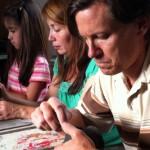 Mike, Martha and Gabbie work on their ceramic artworks