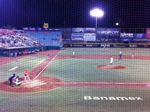 View from the stands of the Oaxaca Guerreros game