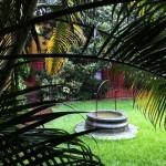 Courtyard at the Instituto Cultural Oaxaca in the rain