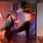 Dance performers caught in motion
