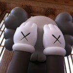 Close up of COMPANION art installation by KAWS at 30th Street Station
